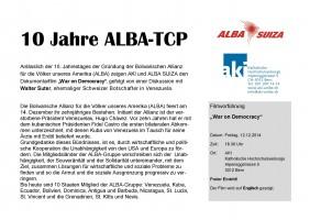 Flyer 10 Jahre ALBA Bern