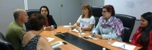 Reunion con la ministra de la mujer e igualdad