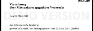 verordnung gegen Venezeula