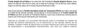 Alba Suiza Presidente Nicolás Maduro
